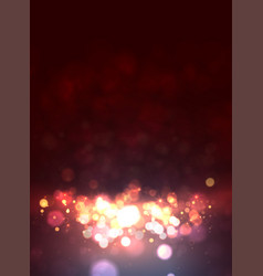 Magic background with bokeh and stars vector