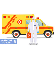 Medical concept detailed jewish vector