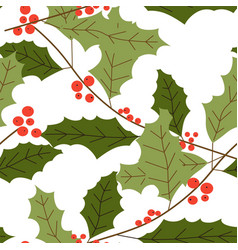 Merry christmas symbolic mistletoe plant vector