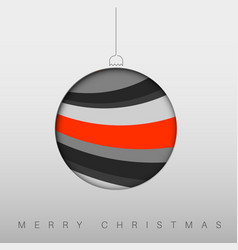 Minimalistic christmas card with christmas bauble vector
