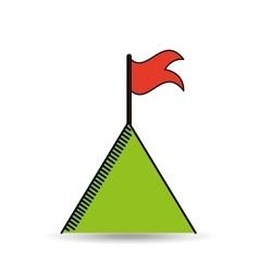 mountain success design vector image