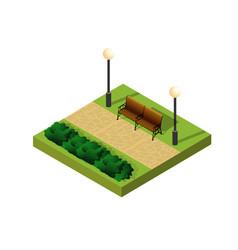 natural ecological landscape vector image