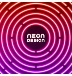 Neon original background design for cover flyer vector