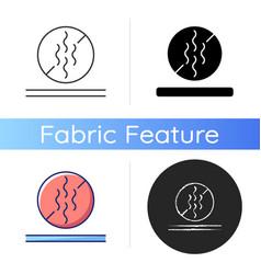 Odor resistant textile feature icon vector
