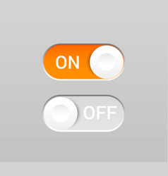 on and off toggles concept vector image