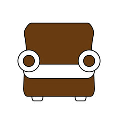 One seat couch or sofa icon image vector