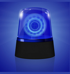 police siren flasher vector image