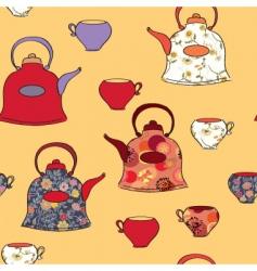 pots cups vector image vector image