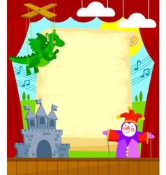 puppet theater vector image