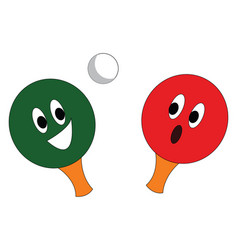 racket and ball of table tennis sport or color vector image
