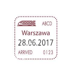 railway visa control poland border warsaw visa vector image