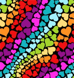 rainbow hearts vector image