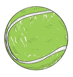 retro tennis ball vector image