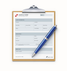Sample form mock-up vector
