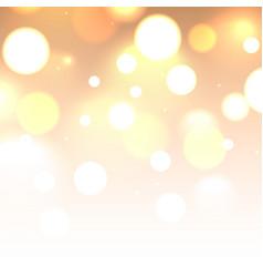 Shiny glitter bokeh lights background defocused vector