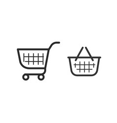 Shopping cart consumer basket icon vector