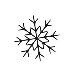 snowflake in winter icon vector image