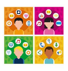 social media frames vector image
