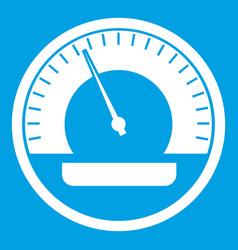 Speedometer icon white vector