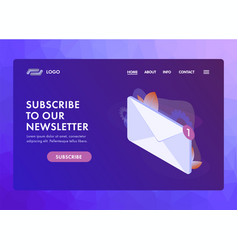 Subscribe to our newsletter ui ux vector