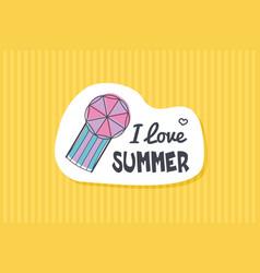 summer poster card i love summer vector image