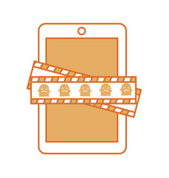 Tablet device with measure tape vector