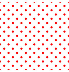 tile pattern with red polka dots on background vector image