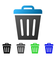trash can flat gradient icon vector image