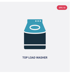 Two color top load washer icon from tools and vector