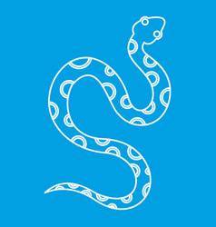 Venomous snake icon outline style vector