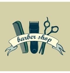 Vintage Barber Shop Label vector