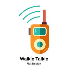 Walkie talkie flat icon vector