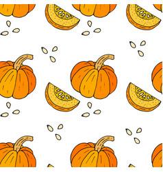 webseamless halloween background with pumpkins vector image