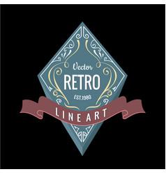 Western logo retro banner design 3d vector