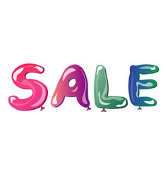 White sale sign on white background vector