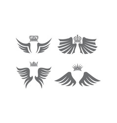 wing shield crown collection vector image