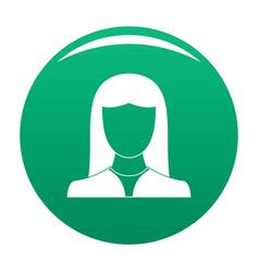 Woman avatar icon green vector