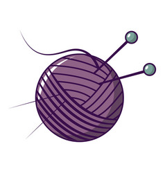 yarn ball icon cartoon style vector image