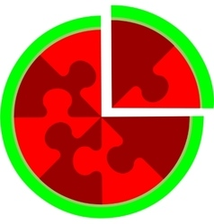 Abstract cherry puzzle in color 16 vector image vector image