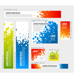 banner templates collection with abstract vector image