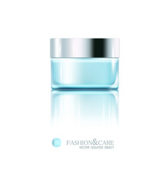 glass jar cosmetic cream isolated object vector image