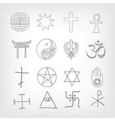 Religious symbolism vector image