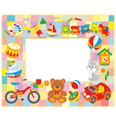 Toy picture frame vector image