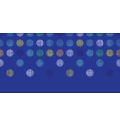 Abstract textile polka dots on blue horizontal vector image vector image