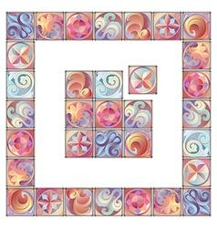 Artistic Floral Border vector image