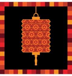 paper lantern greeting card vector image