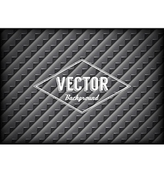 Steel grid background with sharp teeth and label vector image