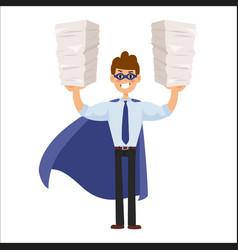 superhero business man vector image vector image