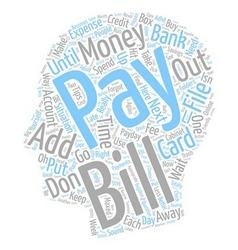 The big bugaboo money text background wordcloud vector