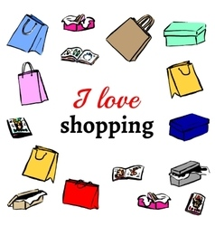 Gifts shopping bags vector image vector image